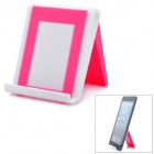 Stylish Foldable Plastic Stand Holder Support for iPad - Deep Pink + White
