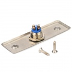ON / OFF Button Aluminum Alloy Switch - Silver