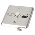 Aluminum Alloy Door Release Button Switch - Silver