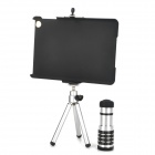 12X Telephoto Lens + TrIpod + Universal Holder + Protective Back Case for Ipad MINI - Black + Silver