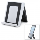 Stylish Foldable Plastic Stand Holder Support for iPad - Black + White