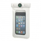 Universal Waterproof Bag w/ Built-in Compass / Armband / Strap for Iphone / Cellphone - White