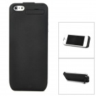 NP-IP5F 2200mAh Power Back Case w/ Recharging Cable for iPhone 5 - Black
