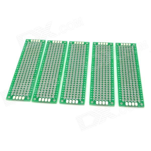 7051 Double-Sided Hot Air Solder Leveling Boards - Green + Silver (5 PCS) 6 in 1 double sided pcb prototype boards set green