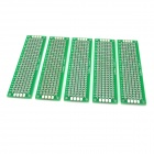 7051 Double-Sided Hot Air Solder Leveling Boards - Green + Silver (5 PCS)
