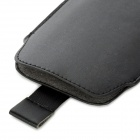 Protective PU Leather Pouch Case for Samsung Galaxy S4 i9500 - Black