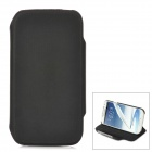 Protective 360 Degree Rotation PU Leather Case for Samsung Galaxy S4 i9500 - Black