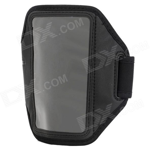 Sporty Diving Fabric Armband w/ Capacitance Stylus for Samsung i9080 / i9082 - Black patriot max power srge 3800