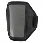 Sporty Diving Fabric Armband w/ Capacitance Stylus for Samsung i9080 / i9082 - Black