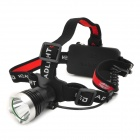 LZZ Cree XM-L T6 300lm 3-Mode White Crown Head Headlamp - Black + Silver (1 x 18650)