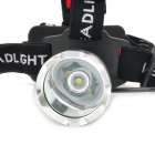 LZZ 300lm 3-Mode White Crown Head Headlight w / Cree XM-L T6 - Noir + Argent (1 x 18650)