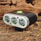 FANDYFiRE D88 1500lm 5-Mode White Bicycle Light w/ 3 x Cree XM-L T6 - Black + Silver (4 x 18650)