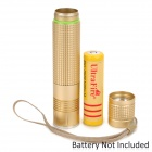 UltraFire F16 400lm 5-Mode White Flashlight w/ Cree XM-L U2 - Golden (1 x 18650)