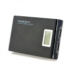 6800mAh Dual USB Output Portable Power Bank w/ LED Battery Indicator & Torch Light - Black