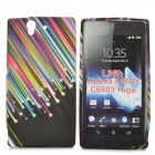 Meteor Style Protective Silicone Back Case for Sony Xperia Z L36h - Multicolor