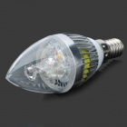 TOHDA E14 3W 280lm 6500K 3-LED White Candlelight Shaped Lamp (85~265V)