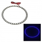 3.3W 260lm 42-SMD 3528 LED Blue Light Car Angel-Eye Daytime Running Lamp (12V)