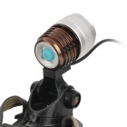 XL-03A 400lm 3-Mode White Zooming Bicycle Light w/ Cree XM-L T6 - Coffee + Silver + Black (1x18650)