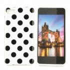 Polka Dot Style Protective Back Case for BlackBerry Z10 - White + Black