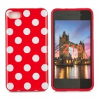 Polka Dot Style Protective Back Case for BlackBerry Z10 - Red + White