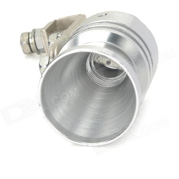 YB032902 DIY Car Aluminum Alloy Turbo-Sound Whistle Effect for Exhaust Pipe  - Silver (Size XL)