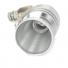 DIY Car Aluminum Alloy Turbo-Sound Whistle Effect for Exhaust Pipe - Silver (Size XL)