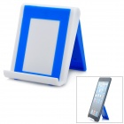 Stylish Foldable Plastic Stand Holder Support for iPad - Blue + White
