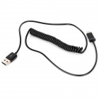 USB to Micro USB Data / Charging Coiled Cable for Samsung / HTC / LG / Nokia - Black