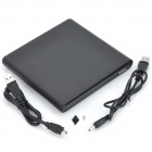 External USB 2.0 Slot-in DVDRW Enclosure for Laptop - Black