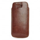 Protective PU Leather Pouch Case for Samsung Galaxy S4 i9500 - Dark Brown
