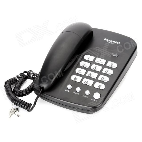 Posantel T-9027 Wired Telephone - Black