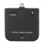 1900mAh Rechargeable External Battery Pack for Samsung / HTC + More - Black