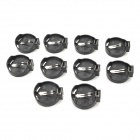 3V CR2025 / CR2032 Cell Battery Adapter - Black + Silver (10 PCS)