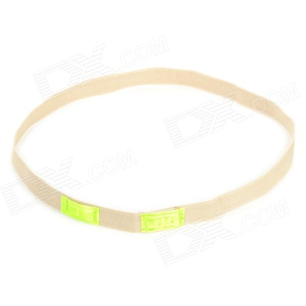 Outdoor Cat Eye Professional Glow-in-the-Dark Elastic Belt for Helmet - Khaki