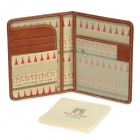 Retro Triumphal Arch Pattern Protective PU Passport Case w/ Memory Note - Brown