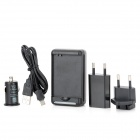 5-in-1 USB AC Charger + Battery Charger + Adapter + Car Charger + Micro USB Cable for Samsung S3 / 4
