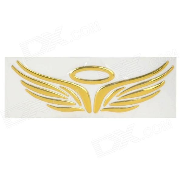 Fashion Angel / Eagle Wings Pattern Car Reflective Decorative Sticker - Golden bbq fuka aluminum auto pininfarina disegno emblem badge styling sticker fit for chevy hyundai lexus ct200 car decal