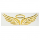 Fashion Angel / Eagle Wings Pattern Car Reflective Decorative Sticker - Golden