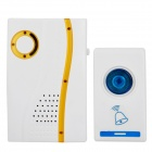 704D Wireless Remote Control Doorbell Receiver + Transmitter - White + Yellow + Blue