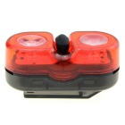 ESSEN EL-601R 100mA 3-Mode 2-LED Red Light bicicleta da bicicleta LED Luz traseira - vermelho + preto (2 x AAA)