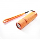 HC-049 Mini 40lm 3-Mode 9-LED White Flashlight w/ Strap - Orange (3 x AAA)