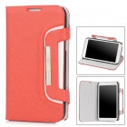 KALAIDENG Twill Pattern Protective PU Leather Flip-Open Case for Samsung N7100 Galaxy Note2 - Red