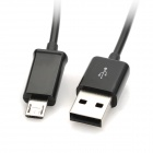 Del cigarrillo del coche del cargador w / USB macho a macho Cable de datos flexible Micro USB - Negro
