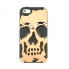 Stylish Gothic Skull Pattern Silicone Back case for Iphone 5 - Black + Golden