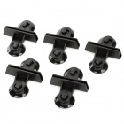 Rigid Plastic Clips / Clamps w/ Rubber Suction Cup for Aquarium Glass - Black (5 PCS)