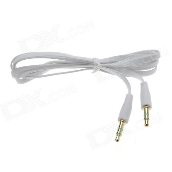 3.5mm Male to Male Flat Audio Cable - White (100cm)