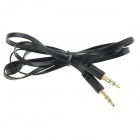 3.5mm Male to Male Flat Audio Cable - Black (100cm)