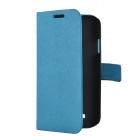 Protective PU Leather Case for Samsung Galaxy S4 i9500 - Blue