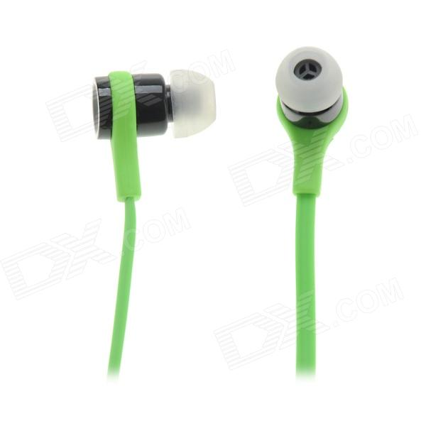 3.5mm Plug Stereo In-Ear Earphone - Green (114cm)