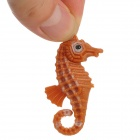 Decoration Plastic Sea Horse for Aquarium / Fish Tank - Yellow + Orange Red + Brown (9 PCS)